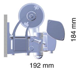 Dimensões de toldo M1450